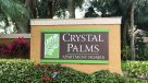Boca Raton Apartments - Crystal Palms sign
