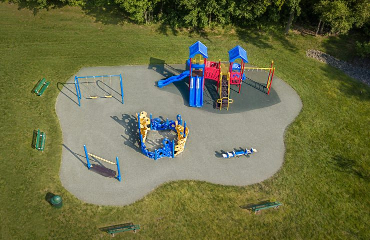 aerial view of the playground