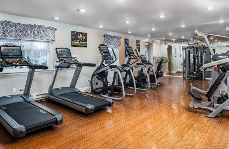 cardio equipment in fitness center