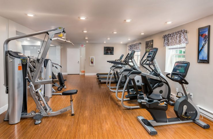 large, new fitness center