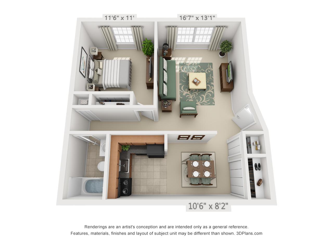 1 bedroom apartments in hatfield