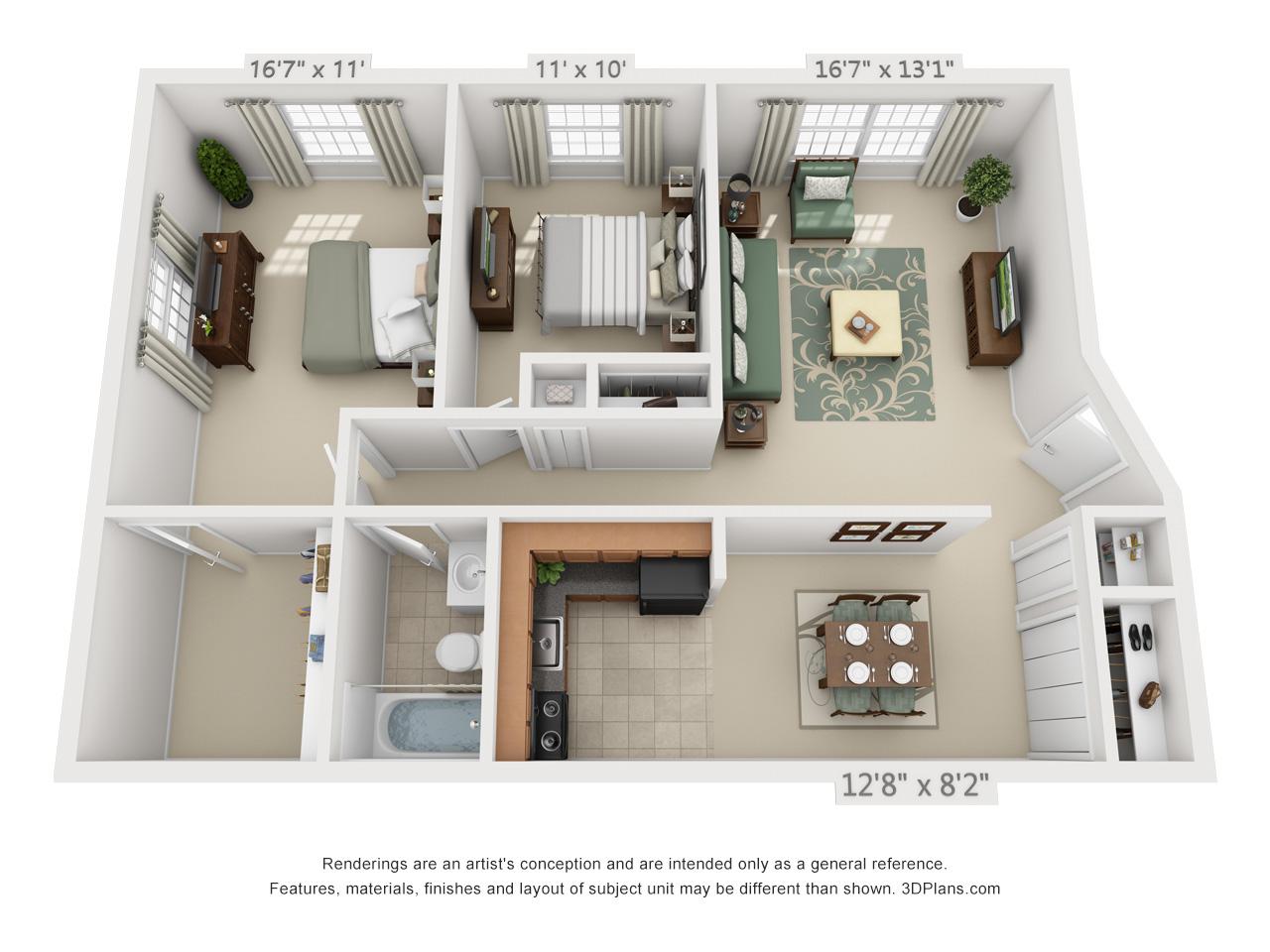 2 bedroom apartments in hatfield