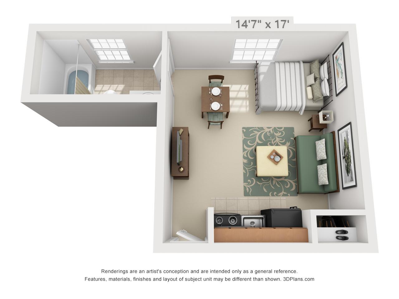 studio apartment in hatfield