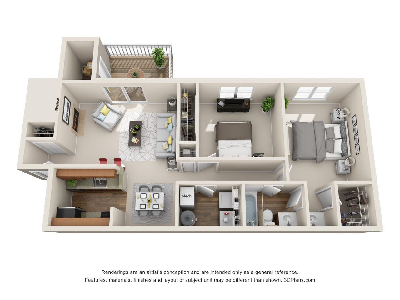 2 bedroom apartment in marlton