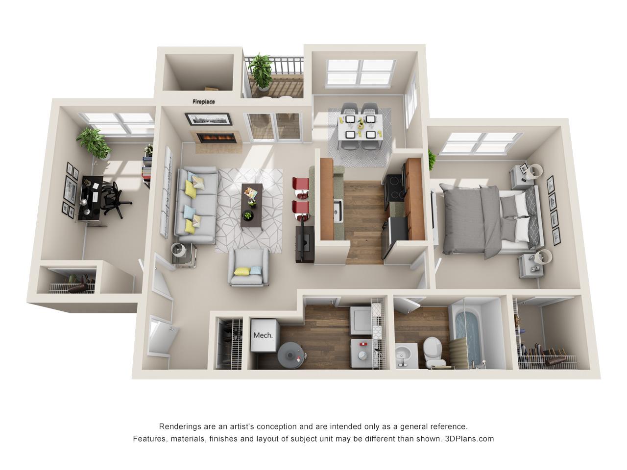 1 bedroom apartment in marlton