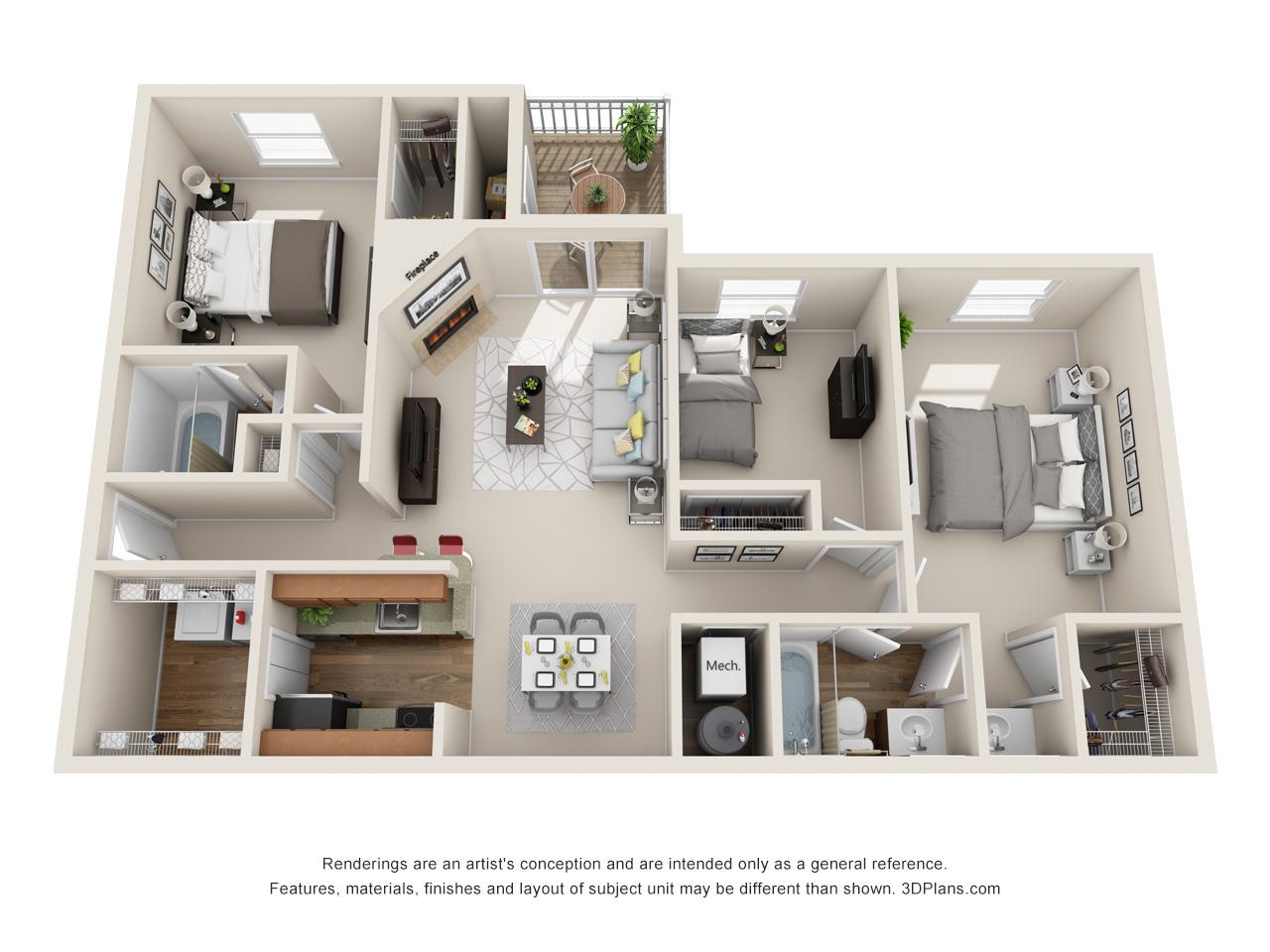 3 bedroom apartment in marlton