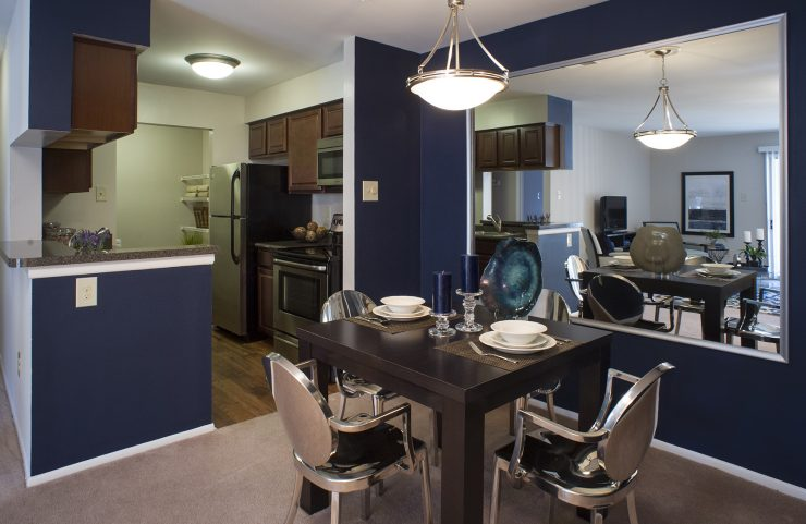 overhead lighting in kitchen and dining