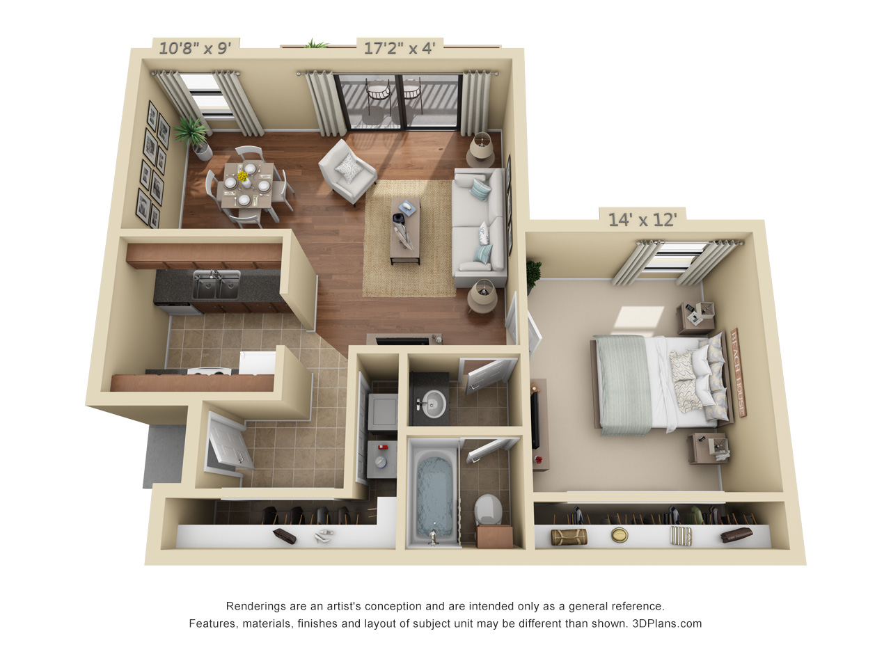 1 bedroom apartments in plantation