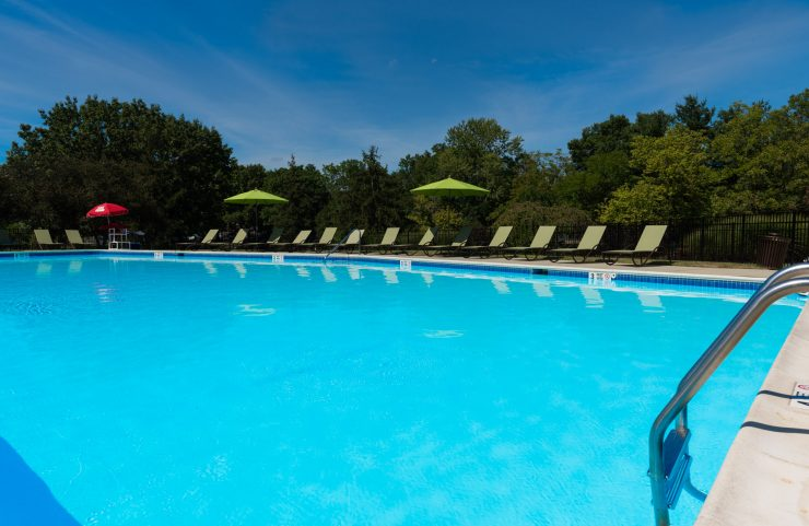 relax and swim in outdoor pool