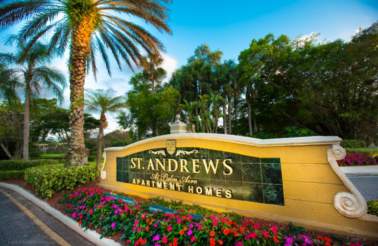 St. Andrews sign at entrance