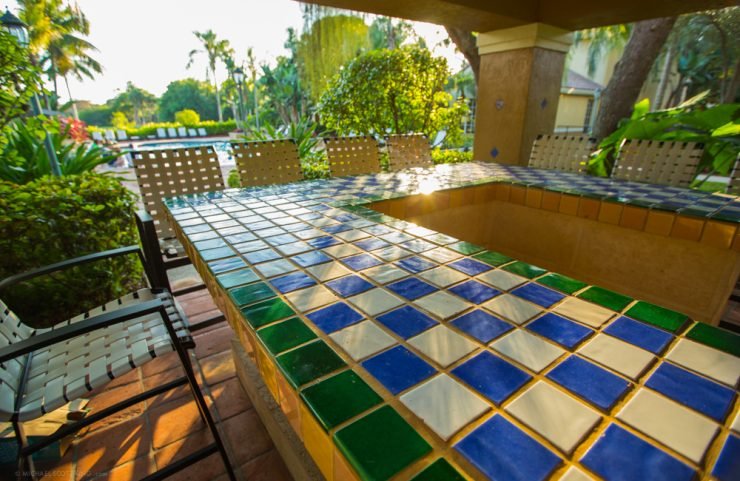 socialize or reserve the cabana for barbecues and parties