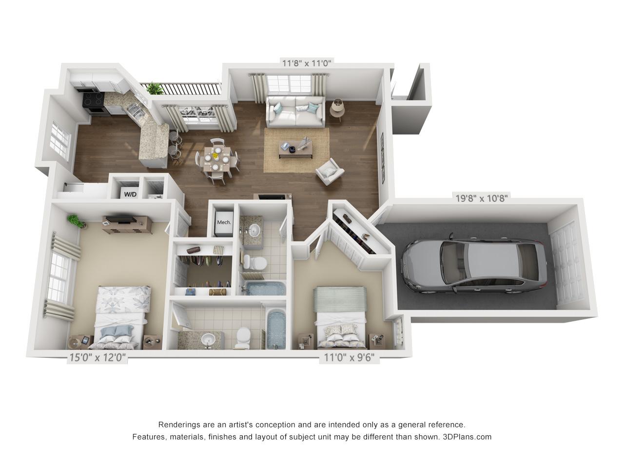 2 bedroom apartment in pembroke pines