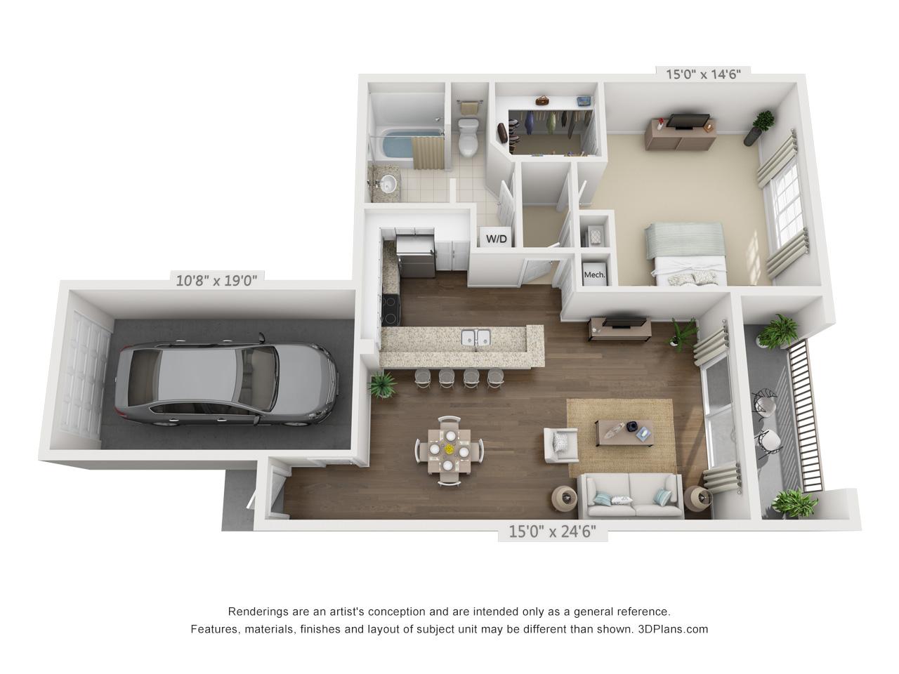 1 bedroom apartment in pembroke pines