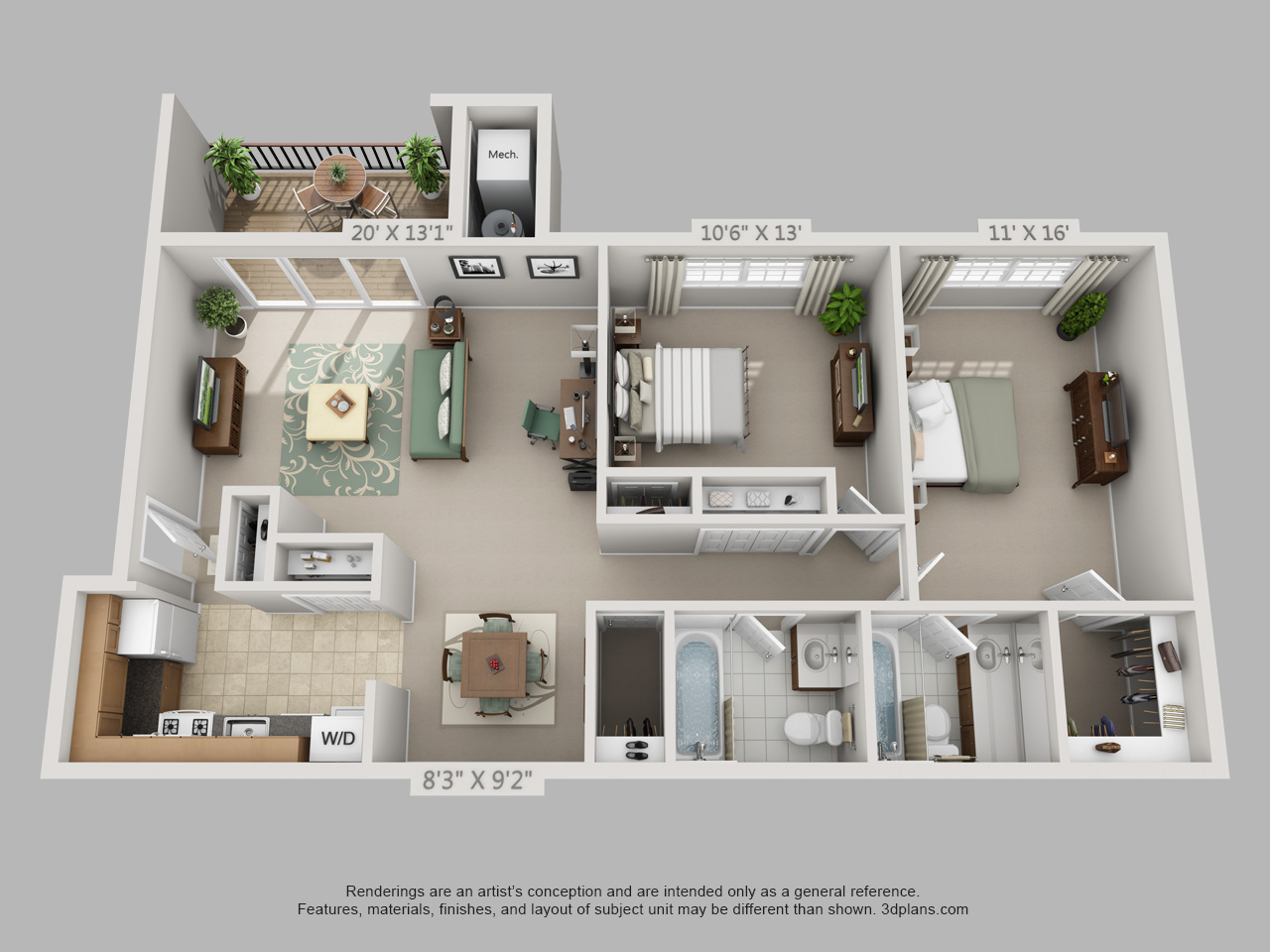 2 bedroom apartment in wayne pa