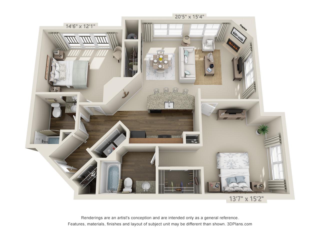 2 bedroom apartments in conshohocken