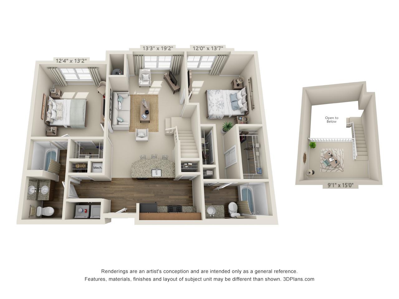 two bedroom apartment in conshohocken