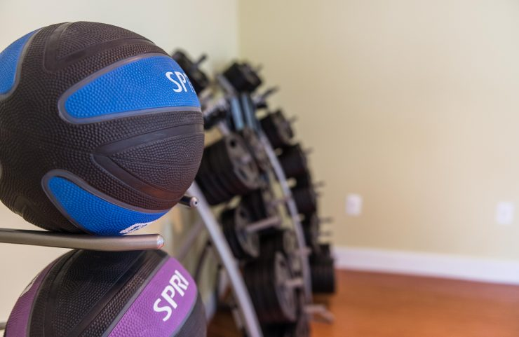 muscle up with strength training balls