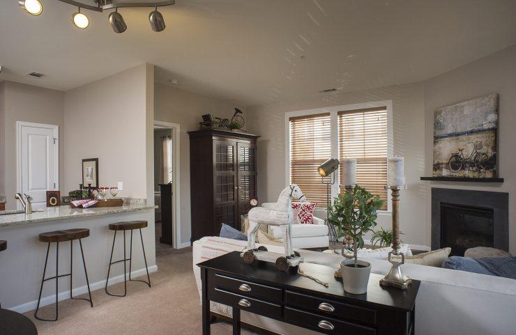 open floorplan living area layout