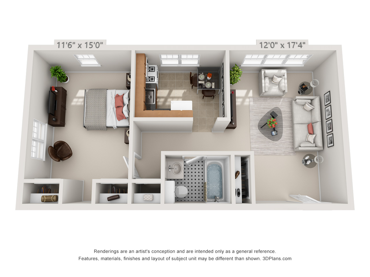 one bedroom apartments in glenside