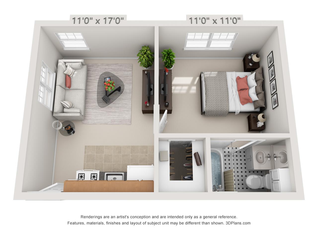 glenside apartments - 1 bedroom