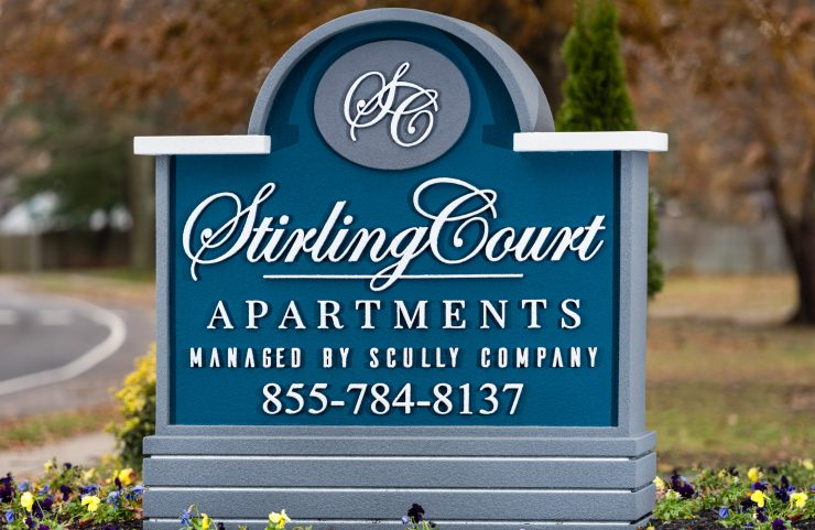 stirling court apartments signage
