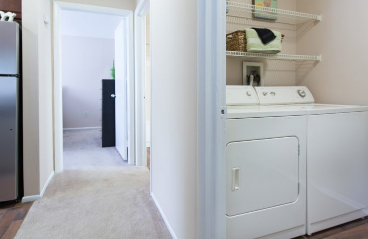 full size washer and dryer in apartment