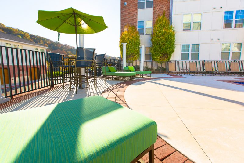 New Patio Furniture and Umbrella Tables With High Top Seating