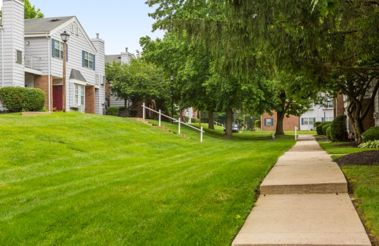 paths throughout the community with well manicured lawns