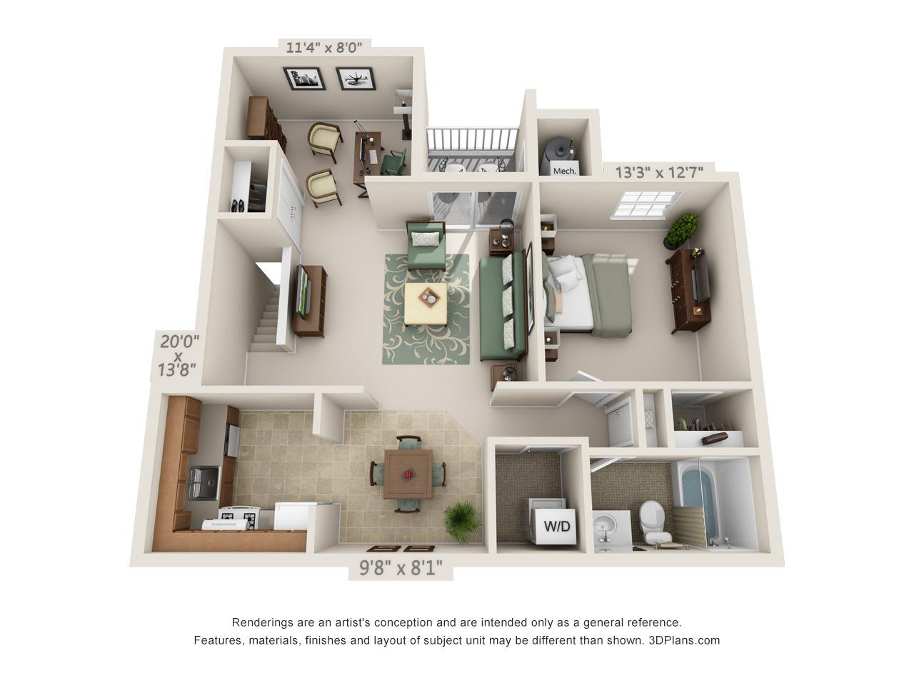 1 bedroom mount laurel apartments