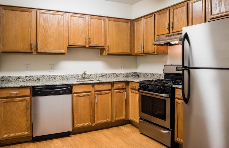 renovated, large kitchen with tons of cabinet and counter space