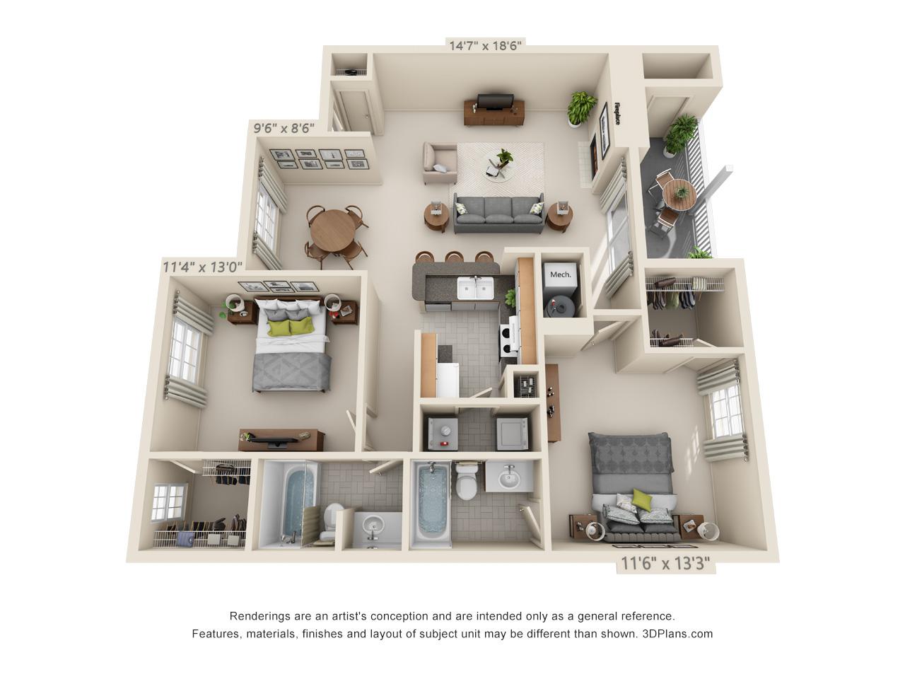 2 bedroom apartment in wethersfield