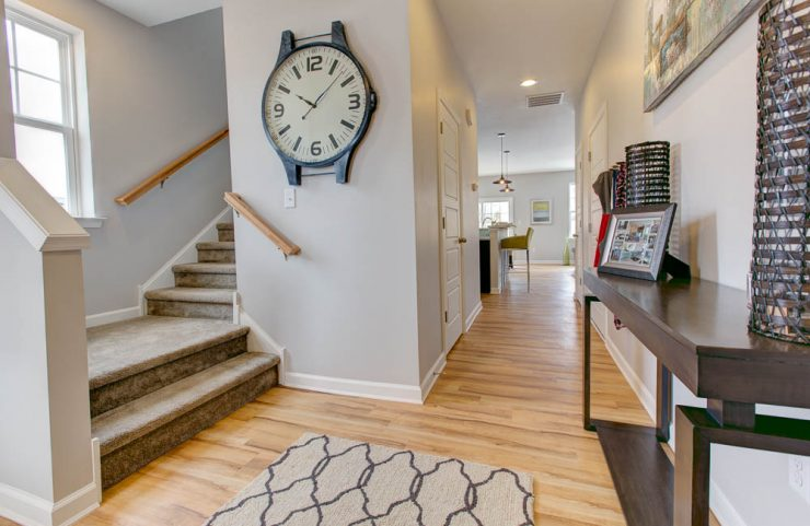 foyer in a 3 bedroom townhome