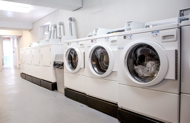 laundry room with large washers and dryers