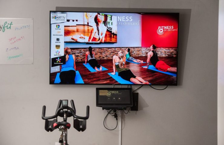 fitness on demand TV with lots of workout options