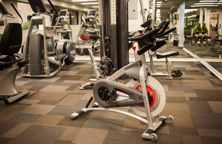 stationary bike in the fitness center