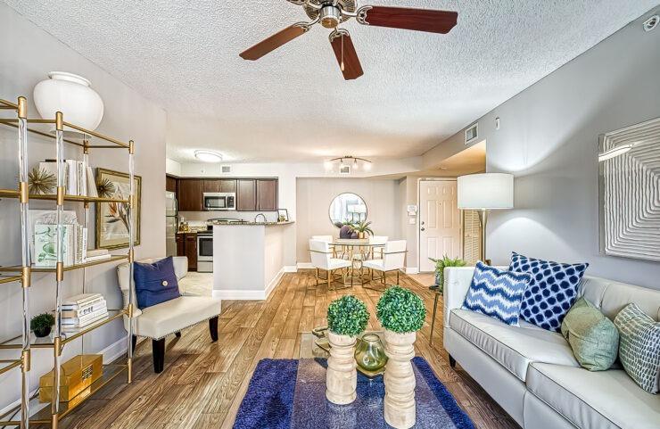 living room with open floorplan