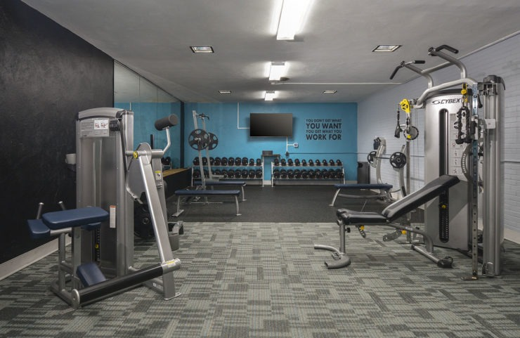 excercise equipment in the large fitness center