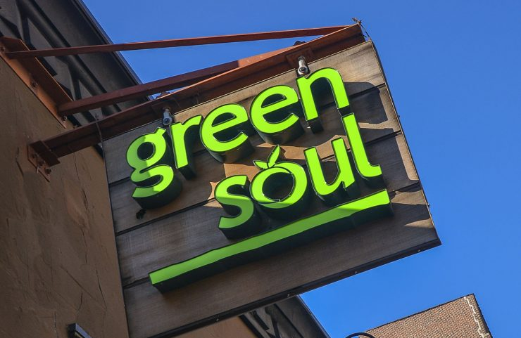 Nearby Healthy Comfort Food: Green Soul signage