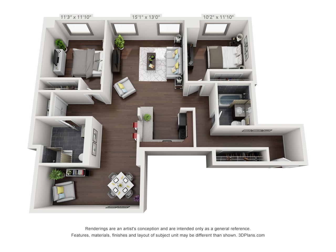 broad street apartments - 2 bedroom