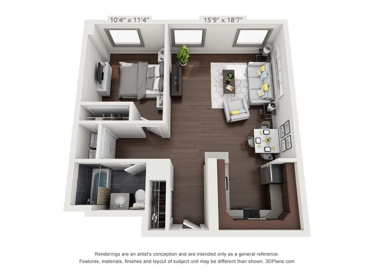 spring garden apartments - 1 bed