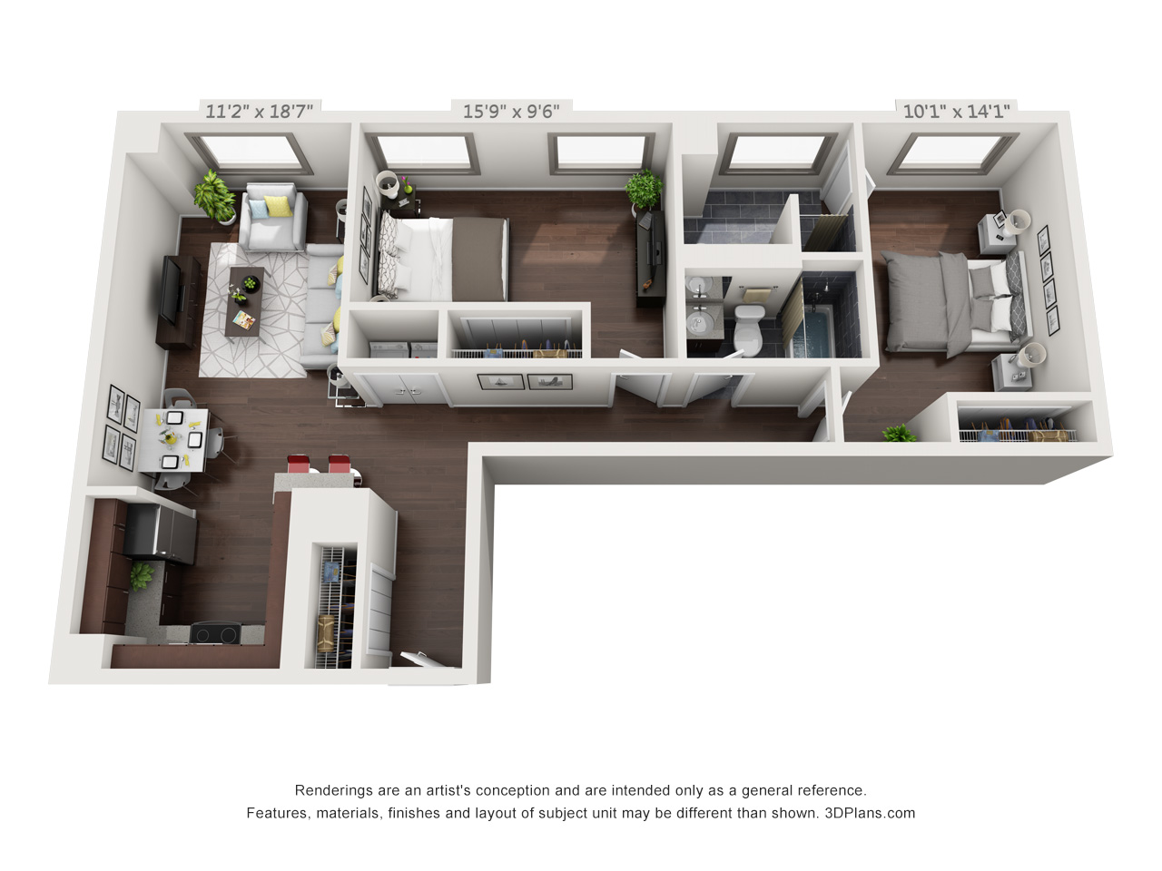 francisville apartments in philly - 2 bedroom