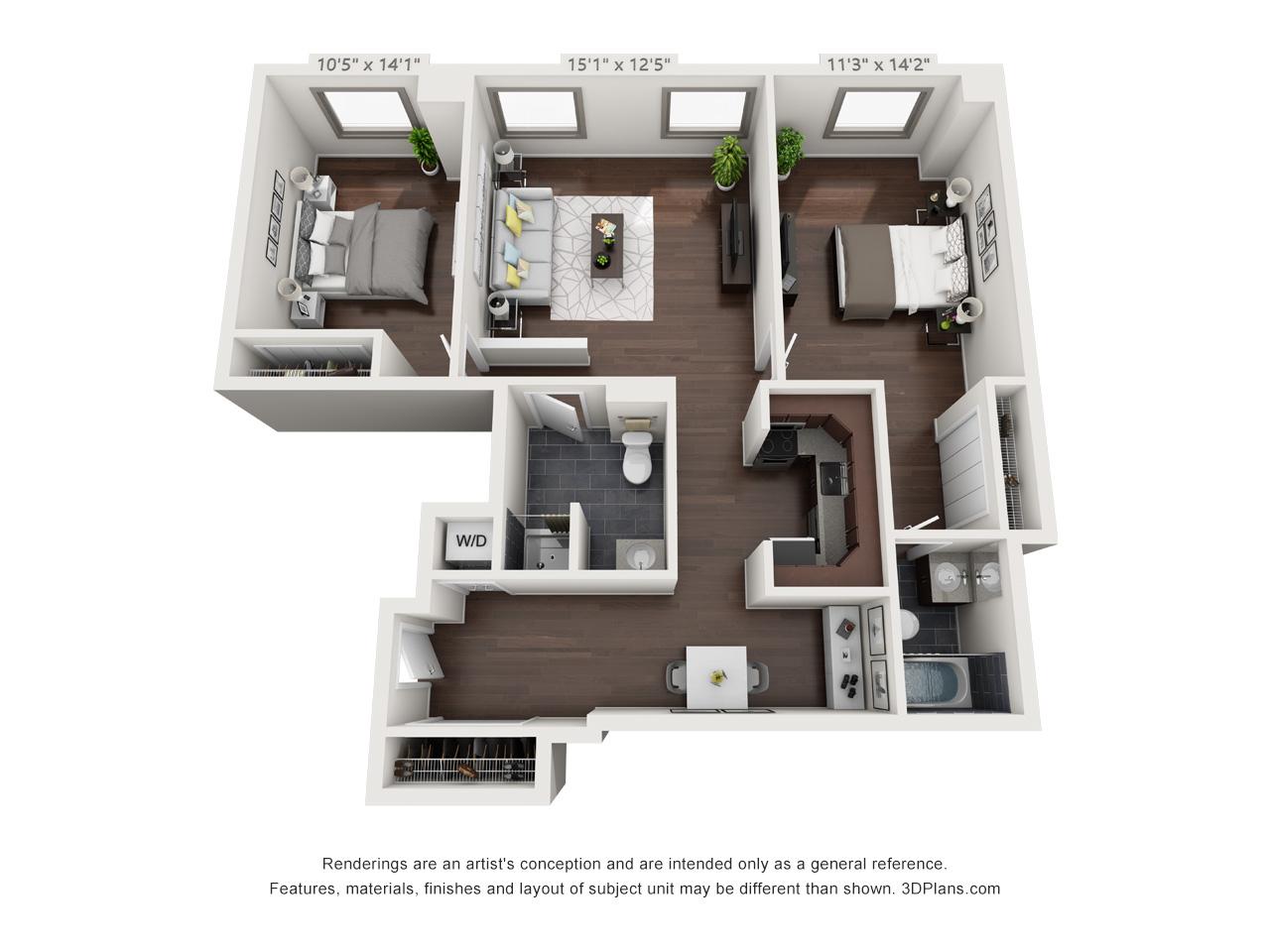 Philadelphia community college apartments - 2 bedroom