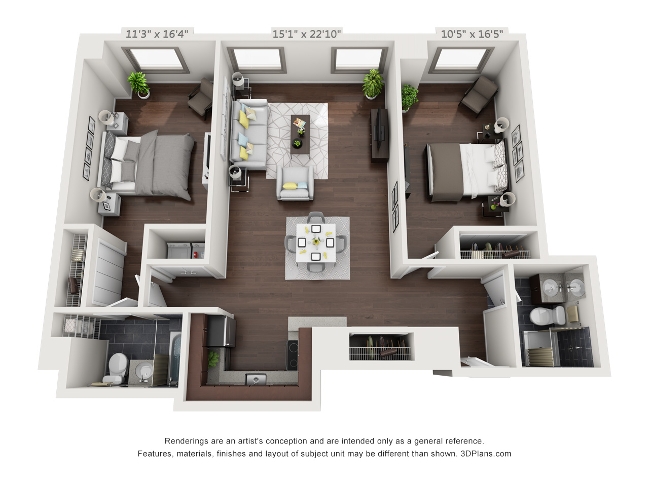 luxury philadelphia apartments - 2 bedroom