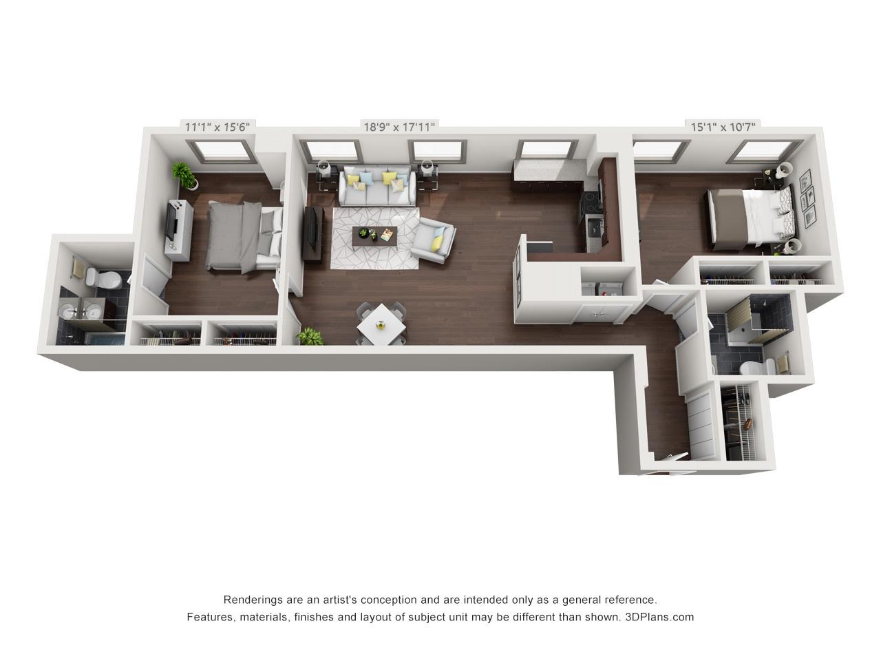 fairmount apartment community - 2 bedroom