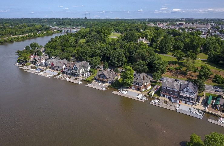 Aerial View of Nearby Boathouse Row