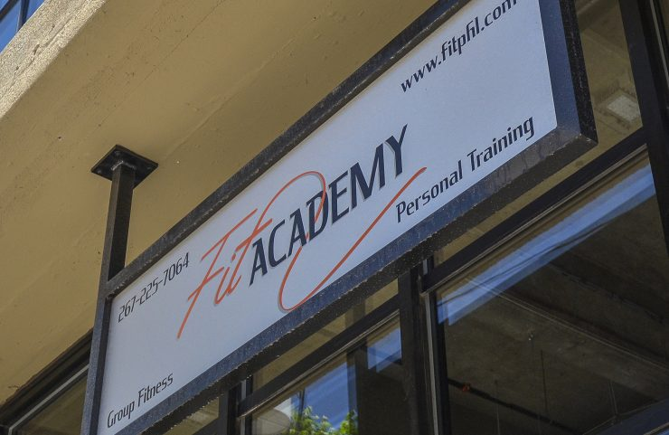 fit academy signage