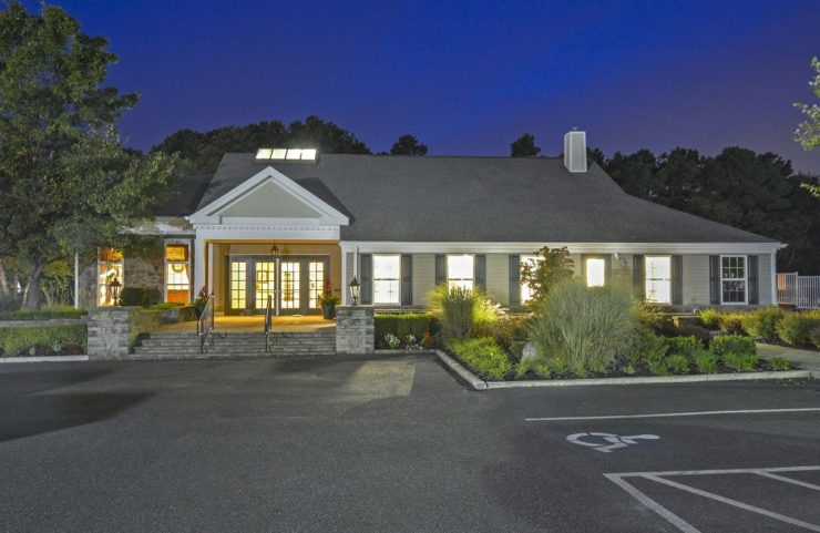Clubhouse and parking lot