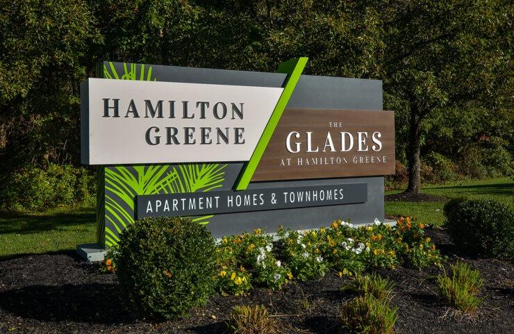 Hamilton Greene and The Glades Signage
