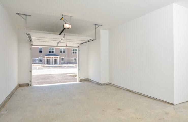 garage with electric garage door opener