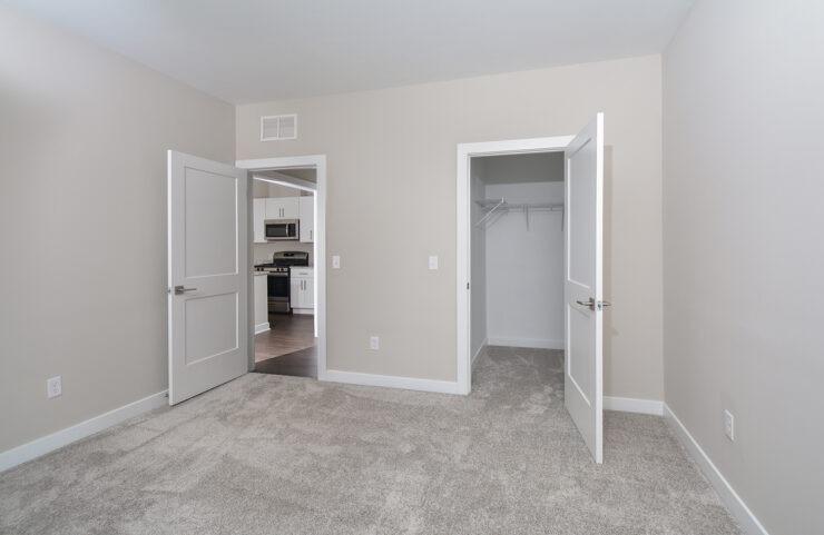 bedroom with walkin closet